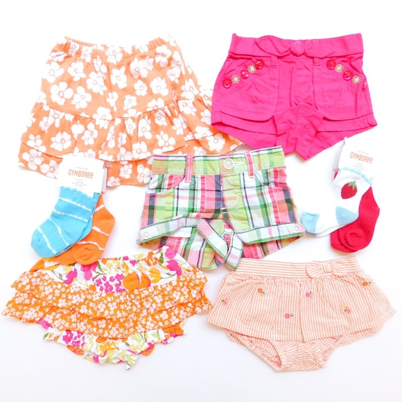 Top /& Shorts//Skort NWT 4 5 6 7 Gymboree Girl Spring Summer 2 pc Short Set